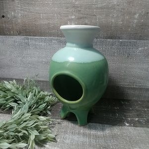 Art Deco geen footed vase..great gnome house😀